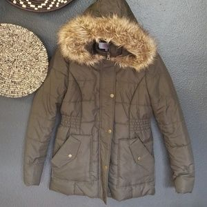 Faux fur puffer jacket